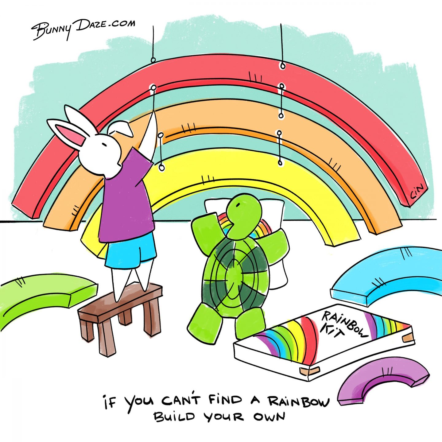 If you can t find a rainbow build your own bunnydaze for Finding a builder