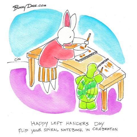 Happy Left Handers Day…Flip Your Spiral Notebook In Celebration