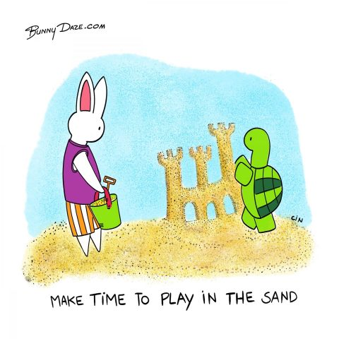 Make time to play in the sand
