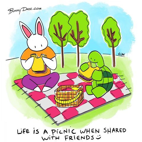 Life is a picnic when shared with friends :)