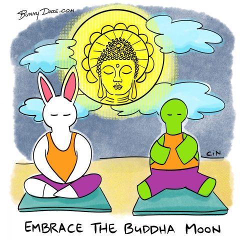 Embrace the Buddha Moon