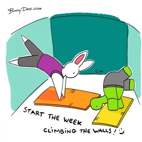 Start the week climbing the walls! :)