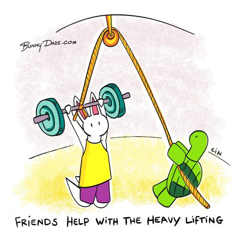 Friends Help with the Heavy Lifting :)
