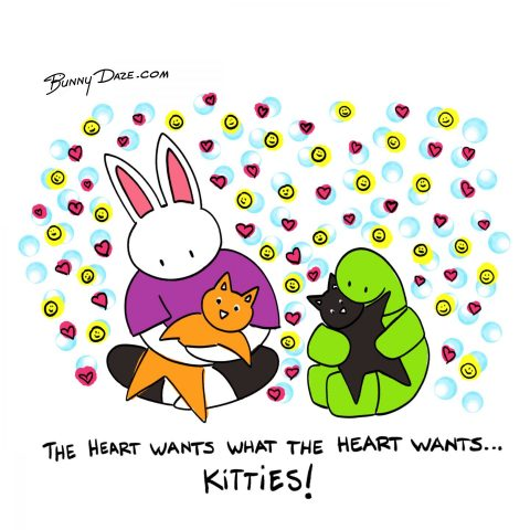 The heart wants what the heart wants…Kitties!