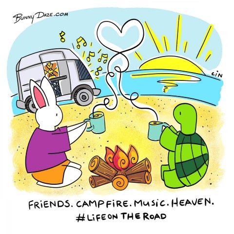 Friends. Campfire. Music. Heaven. #Lifeontheroad