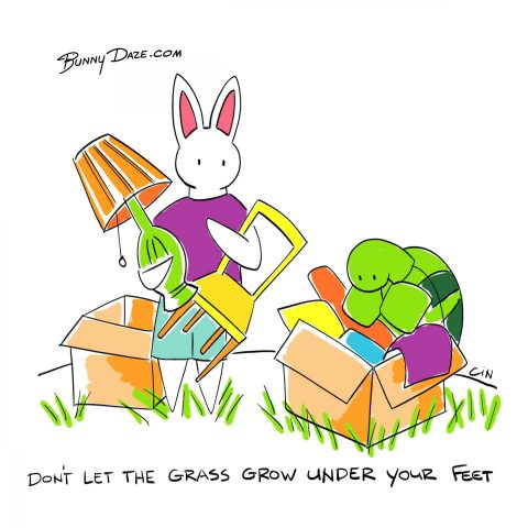 Don't let the grass grow under your feet