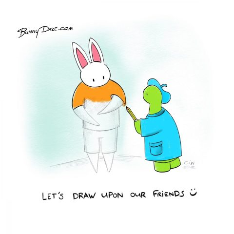 Let's draw upon our friends :)