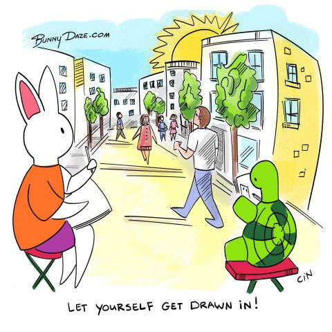 Let yourself get drawn in!