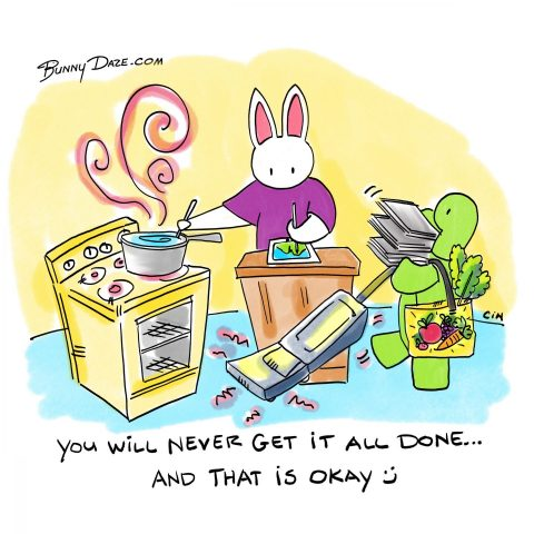 You will never get it all done … and that is okay :)