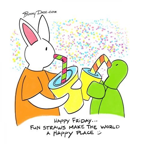 Happy Friday…Fun straws make the world a happy place :)